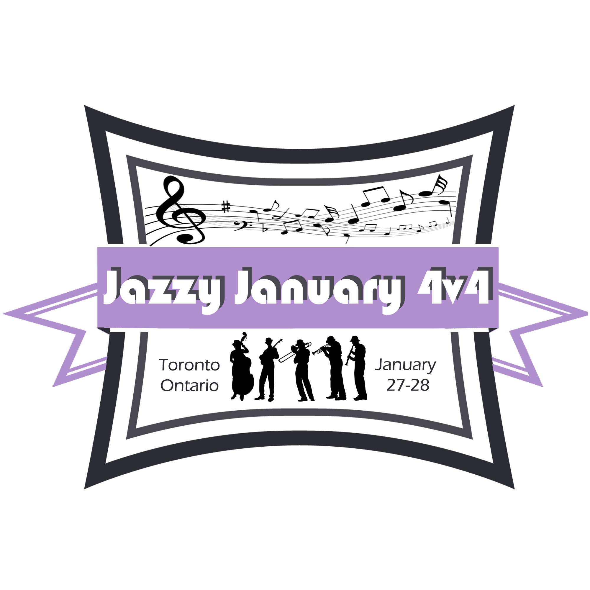 Jazzy January logo. Toronto, ON January 27-28